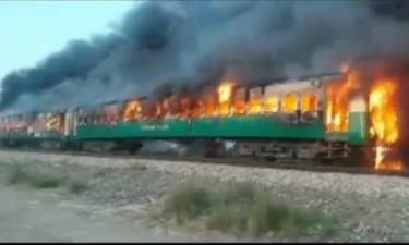 Sobe para 71 número de mortos em incêndio num comboio