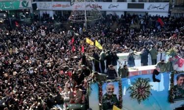 Mais de 50 mortos no funeral de Soleimani