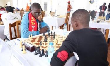Angola joga africano de xadrez