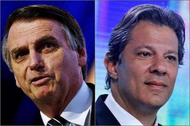 Bolsonaro e Haddad disputam 2.ª volta