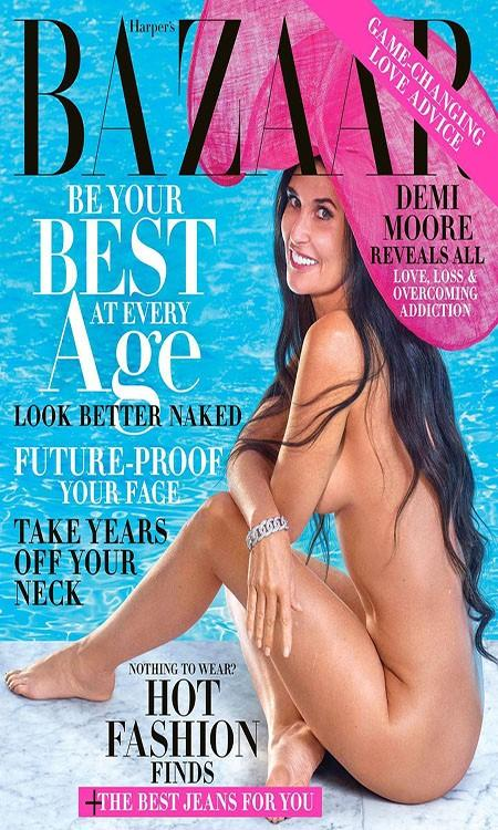 Aos 56 anos, Demi Moore posa nua