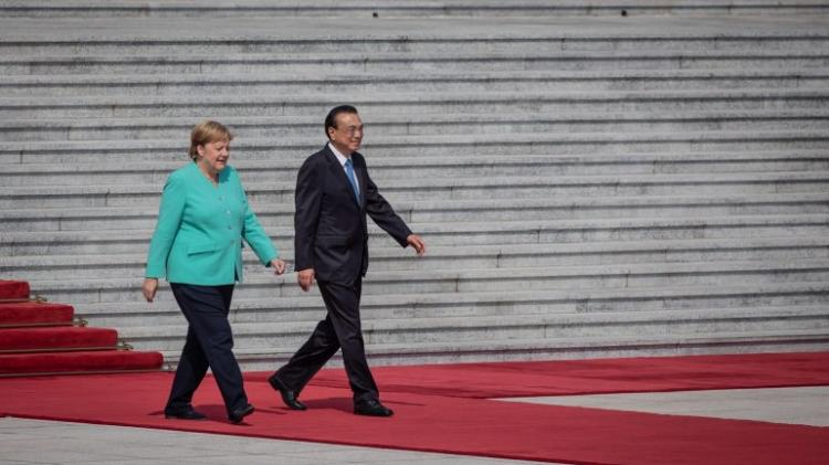 Merkel com encontros importantes na China