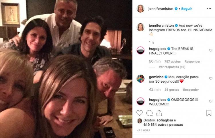 Jennifer Aniston inaugura conta de Instagram