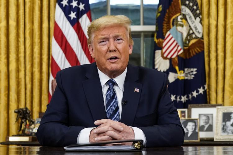 Trump suspende de todos voos da Europa para os EUA