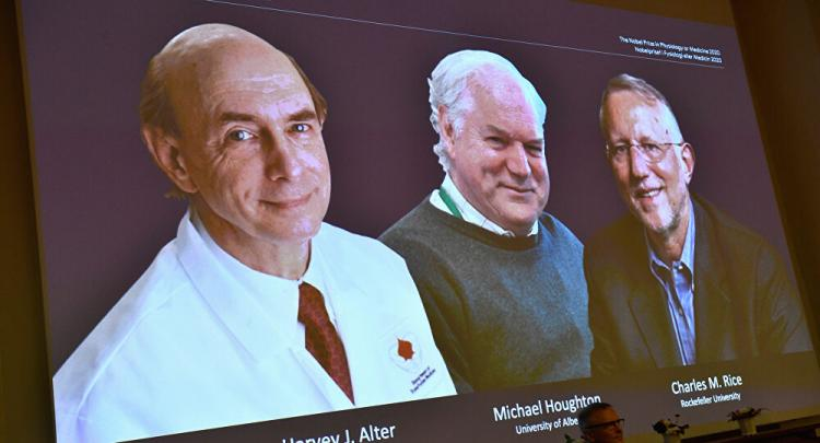 Autores da descoberta do vírus da Hepatite C ganham Nobel da Medicina